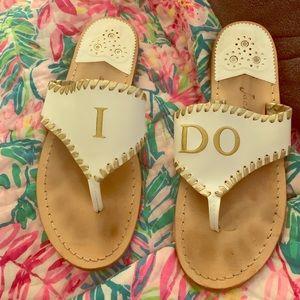 Jack Rogers wedding I do sandals size 9
